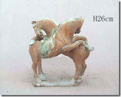 Tang Sancai Art – Two Horses Having Fun Rather Than Fighting